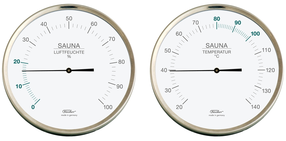 fischer sauna thermometer hygrometer. Black Bedroom Furniture Sets. Home Design Ideas