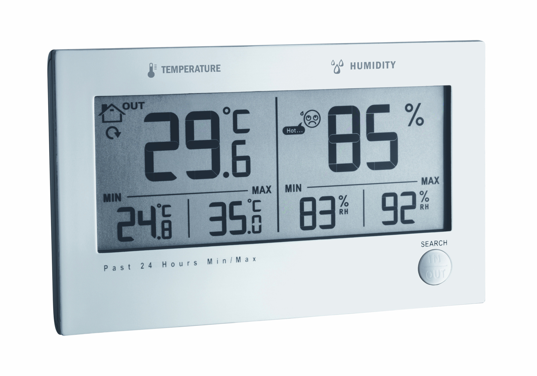 Tfa dostmann twin plus funk thermometer hygrometer for Thermometre exterieur original