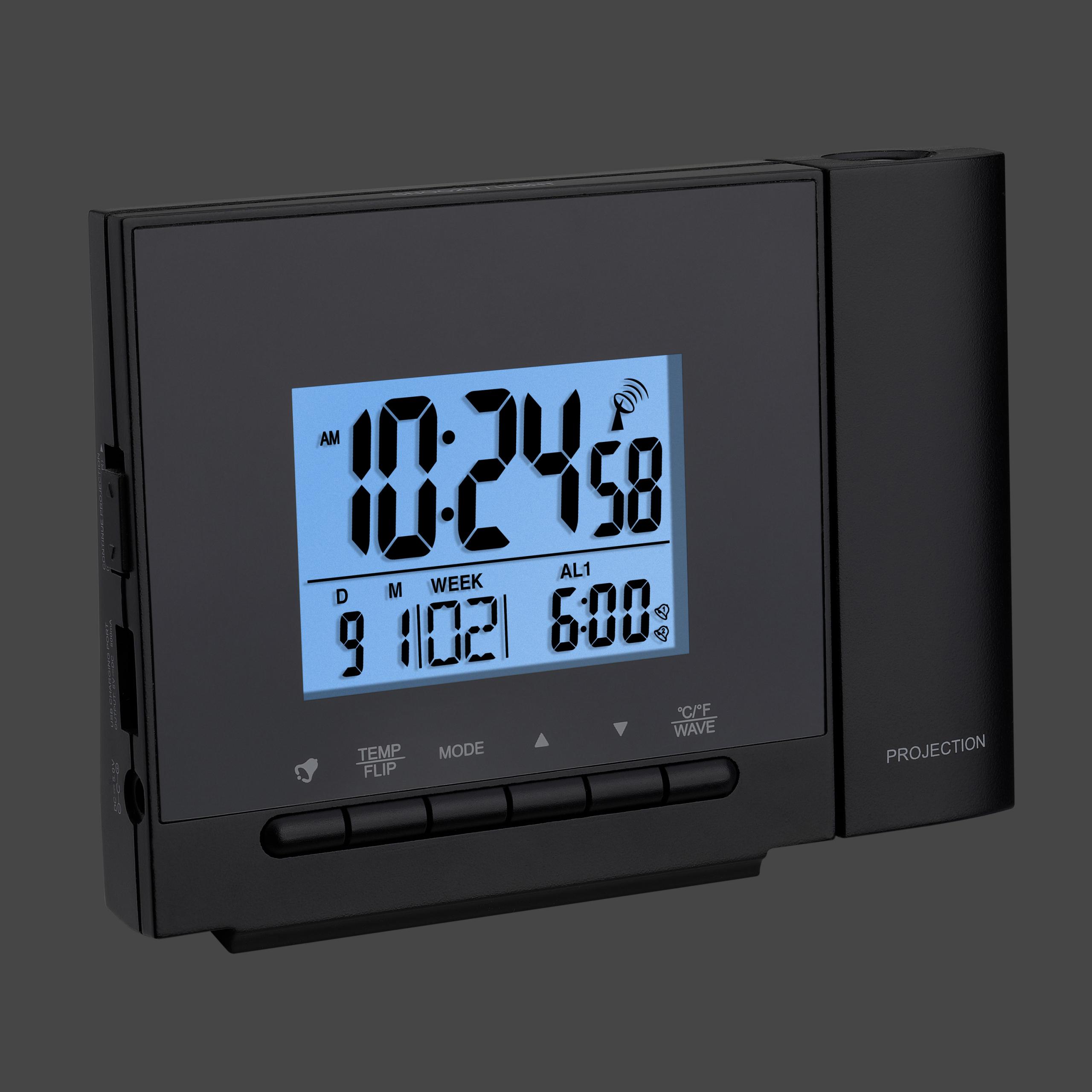 Kühlschrank Thermometer Funk : Tfa dostmann funk projektionsuhr mit temperatur